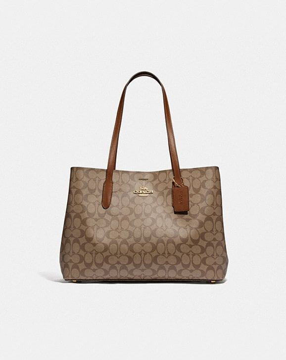 Coach LARGE AVENUE CARRYALL IN SIGNATURE CANVAS