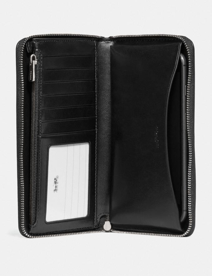 Coach Boxed Large Phone Wallet in Signature Leather Sv/Black Explore Women Explore Women Wallets Alternate View 1