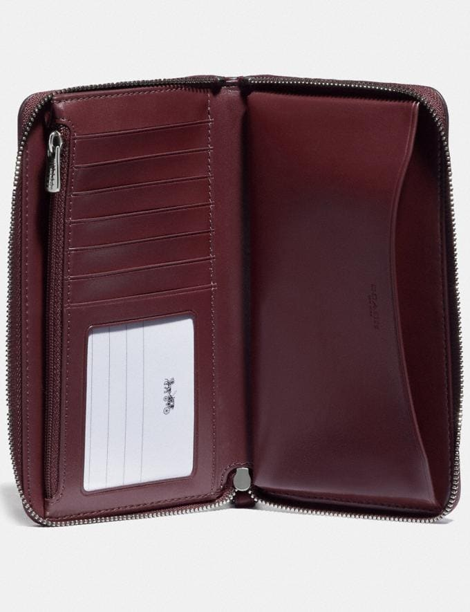 Coach Boxed Large Phone Wallet in Signature Leather Sv/Wine Explore Women Explore Women Wallets Alternate View 1