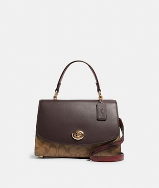 TILLY TOP HANDLE SATCHEL IN SIGNATURE CANVAS