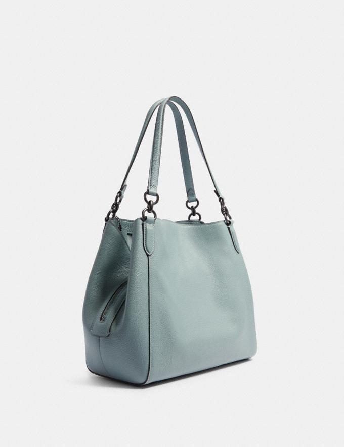 Coach Hallie Shoulder Bag Sv/Pale Blue Women Bags Alternate View 1