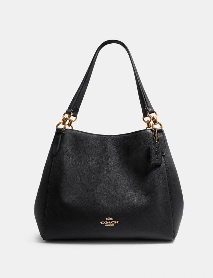 Coach Hallie Shoulder Bag Sv/Pale Blue Women Bags
