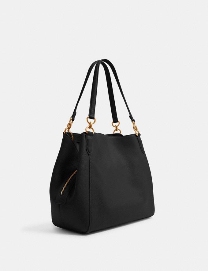 Coach Hallie Shoulder Bag Im/Black Translations 9.3 Outlet sale and back in stock Alternate View 1