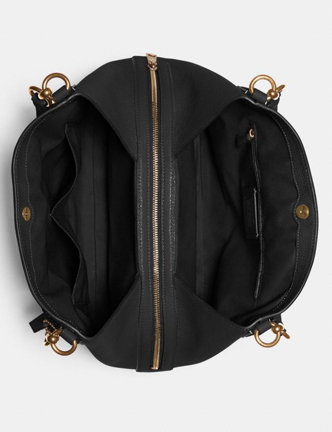 Coach Hallie Shoulder Bag Im/Black Translations 9.3 Outlet sale and back in stock Alternate View 2