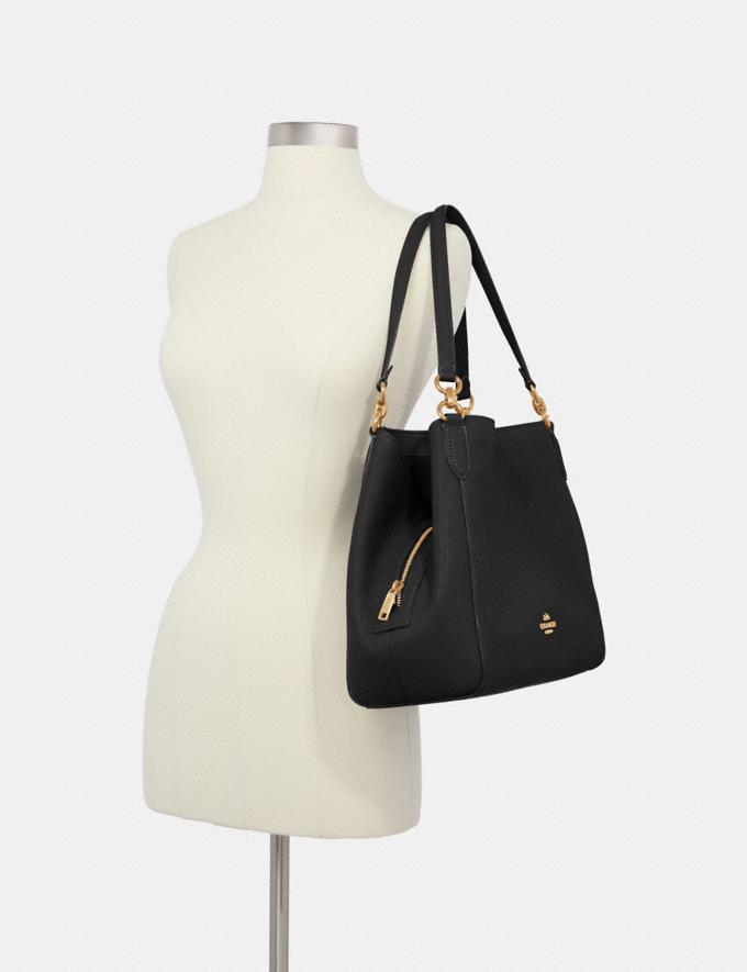 Coach Hallie Shoulder Bag Im/Black Translations 9.3 Outlet sale and back in stock Alternate View 3