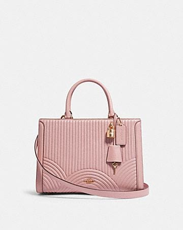 zoe carryall with art deco quilting