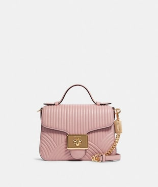 CASSIDY TOP HANDLE CROSSBODY WITH ART DECO QUILTING