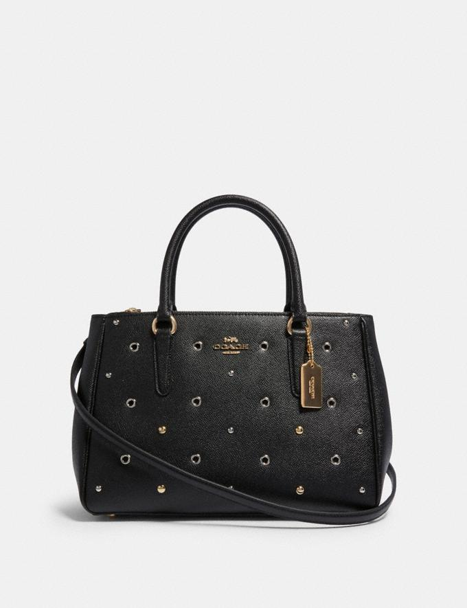 Coach Surrey Carryall With Grommets Im/Black Clearance