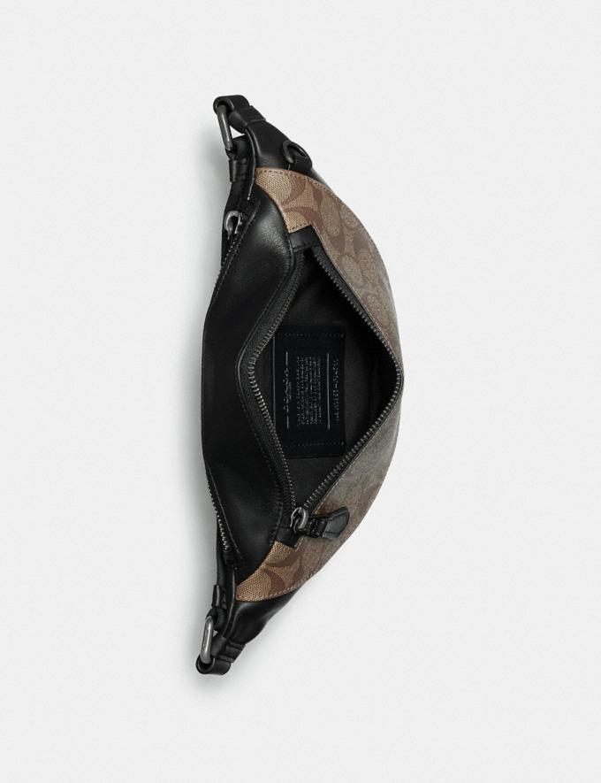 Coach Warren Mini Belt Bag in Signature Canvas Qb/Charcoal/Black Explore Men Explore Men Travel Alternate View 1