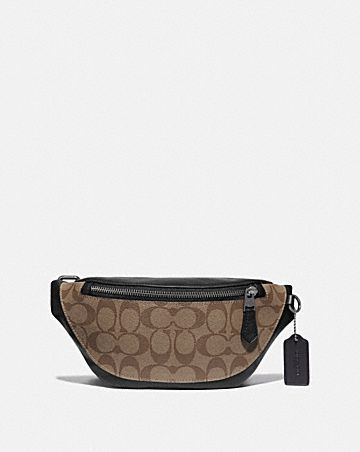 warren mini belt bag in signature canvas