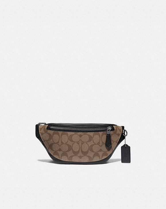 Coach WARREN MINI BELT BAG IN SIGNATURE CANVAS