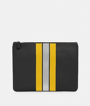 LARGE POUCH WITH VARSITY STRIPE
