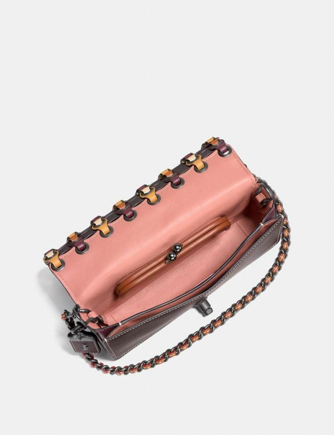 Coach Dinky With Colorblock Coach Link Chalk Multi/Black Copper  Alternate View 1