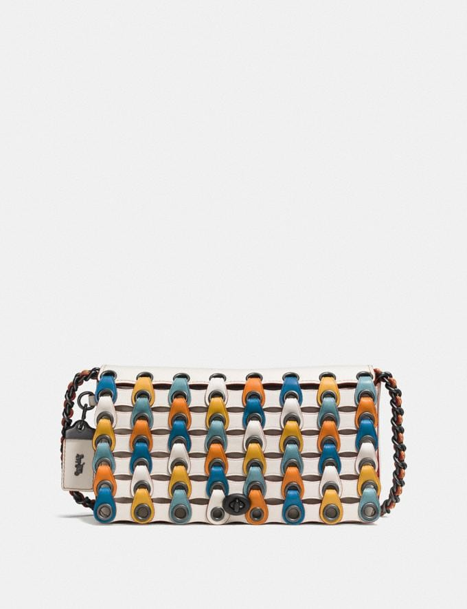 Coach Dinky With Colorblock Coach Link Chalk Multi/Black Copper