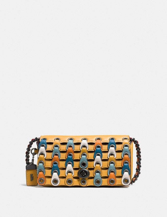 Coach Dinkier With Colorblock Coach Link Bp/Goldenrod Multi