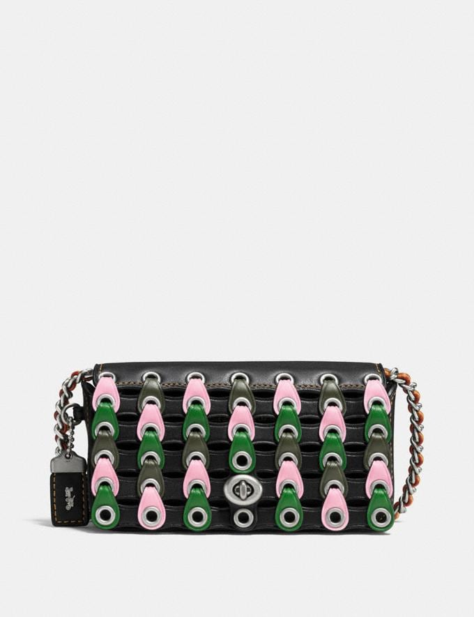 Coach Dinkier With Colorblock Coach Link Lh/Black Kelly Green