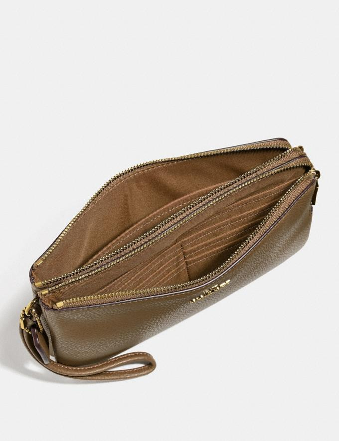 Coach Double Zip Wallet Light Saddle/Light Gold Explore Women Explore Women Wallets Alternate View 1