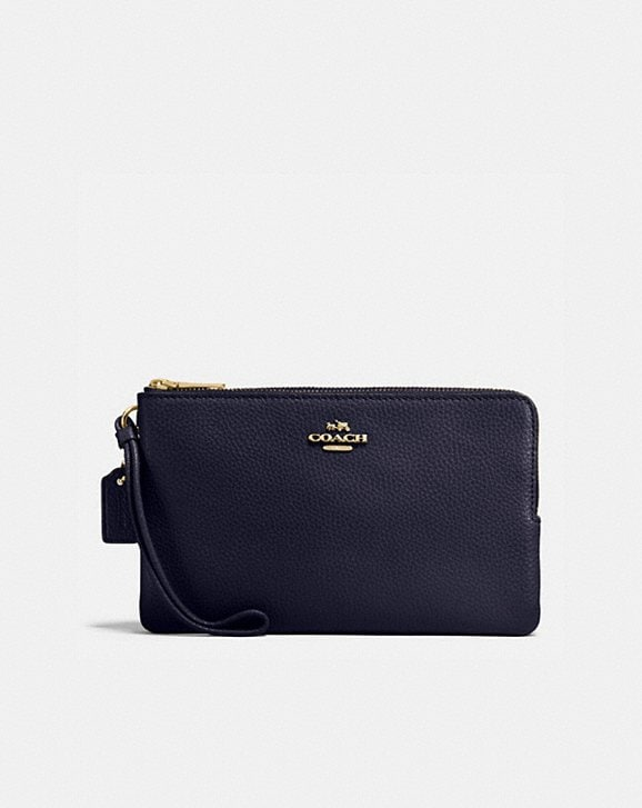 Coach DOUBLE ZIP WALLET