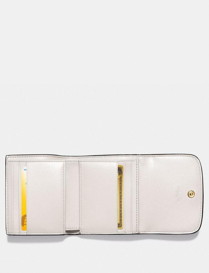 Coach Small Wallet in Signature Canvas Light Khaki/Chalk/Light Gold DEFAULT_CATEGORY Alternate View 1