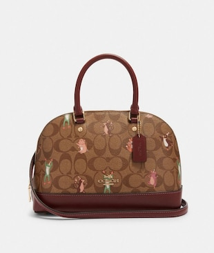 MINI SIERRA SATCHEL IN SIGNATURE CANVAS WITH PARTY ANIMALS PRINT