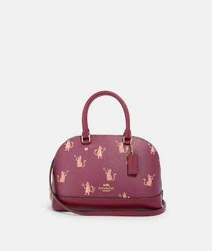 MINI SIERRA SATCHEL WITH PARTY CAT PRINT