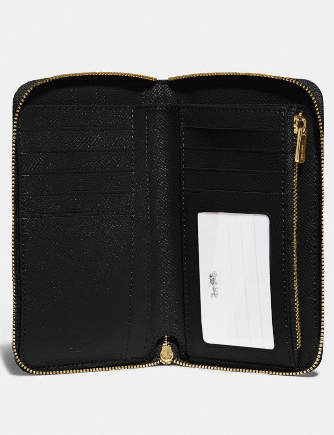 Coach Medium Zip Around Wallet Im/Black Accessories Wallets Alternate View 1