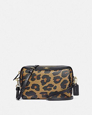 bennett crossbody with leopard print