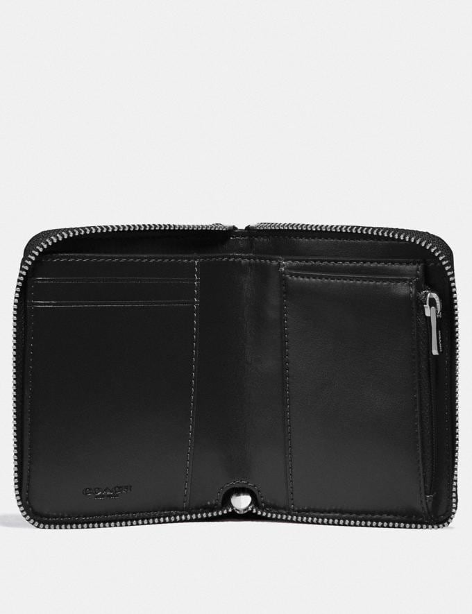 Coach Boxed Small Zip Around Wallet in Signature Leather Sv/Black Explore Women Explore Women Wallets Alternate View 1