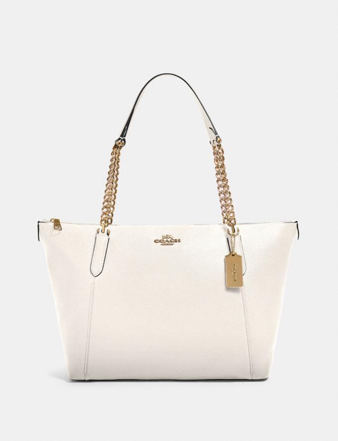 Coach Ava Chain Tote Im/Chalk Women Bags