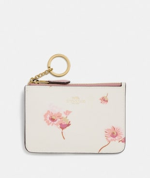 KEY CASE WITH MULTI FLORAL PRINT