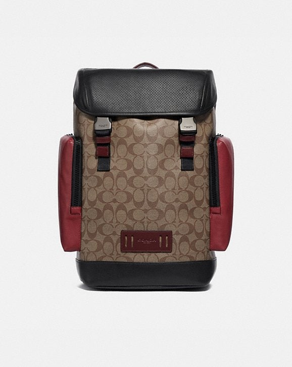Coach RANGER BACKPACK IN COLORBLOCK SIGNATURE CANVAS