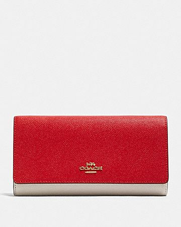 trifold wallet in colorblock