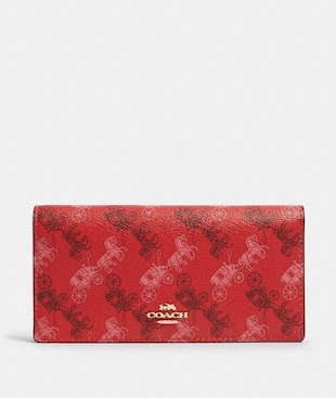 BIFOLD WALLET WITH HORSE AND CARRIAGE PRINT