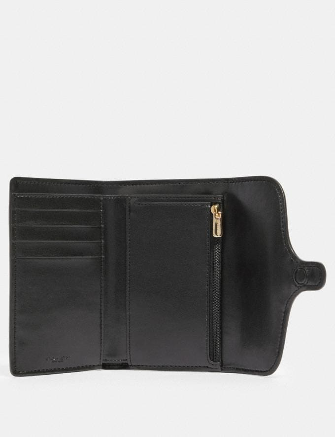 Coach Jade Medium Envelope Wallet in Signature Canvas Im/Brown Black Accessories Wallets Alternate View 1