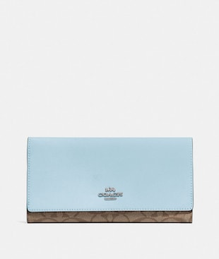 TRIFOLD WALLET IN SIGNATURE CANVAS