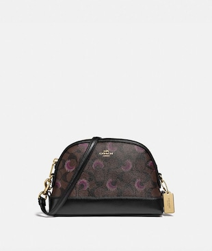 DOME CROSSBODY IN SIGNATURE CANVAS WITH MOON PRINT