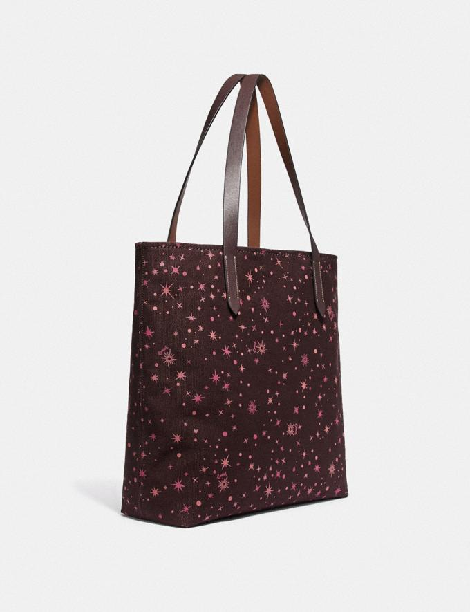 Coach Star Wars X Coach Tote With Starry Print and Princess Leia as Boushh Qb/Multicolor  Alternate View 1