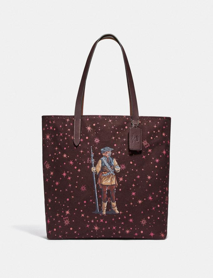 Coach Star Wars X Coach Tote With Starry Print and Princess Leia as Boushh Qb/Multicolor