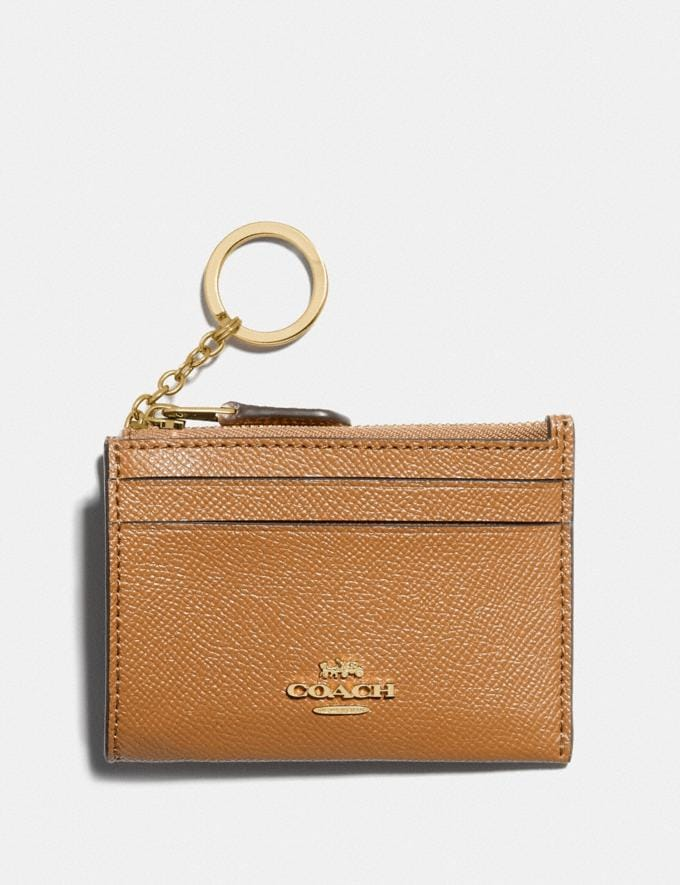 Coach Mini Skinny Id Case Im/Light Saddle