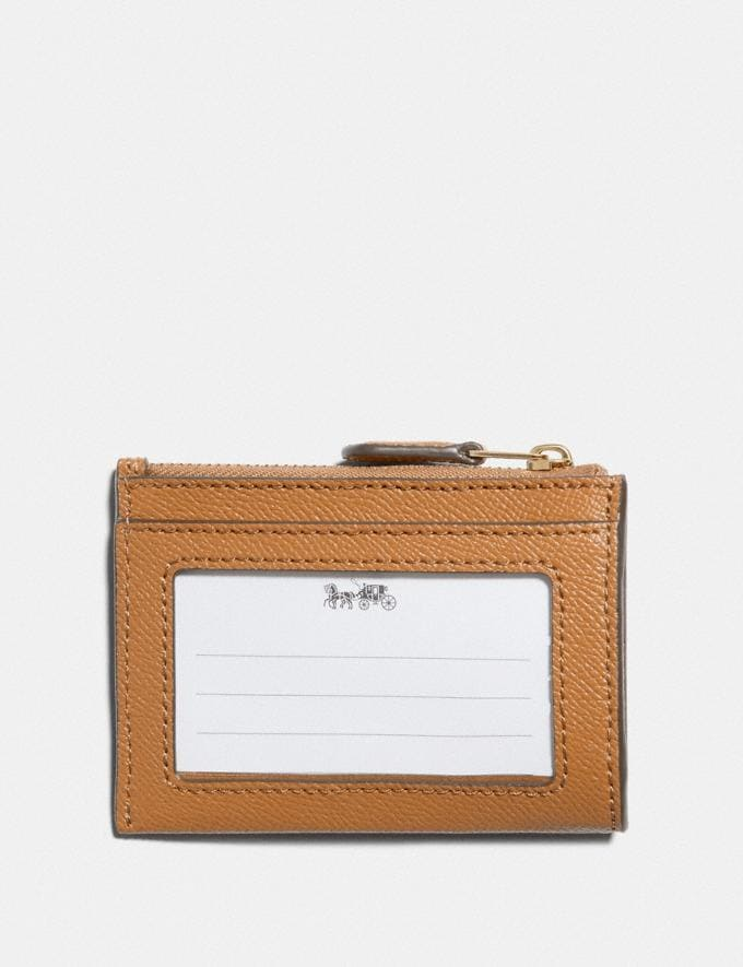Coach Mini Skinny Id Case Im/Light Saddle Explore Women Explore Women Wallets Alternate View 1