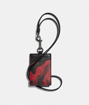 ID LANYARD IN SIGNATURE CANVAS WITH CAMO PRINT