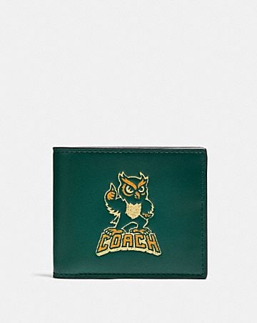 id billfold wallet with party owl print