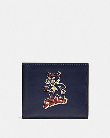 id billfold wallet with party cat print