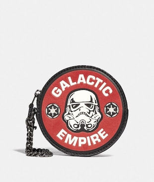 STAR WARS X COACH ROUND COIN CASE WITH GALACTIC EMPIRE