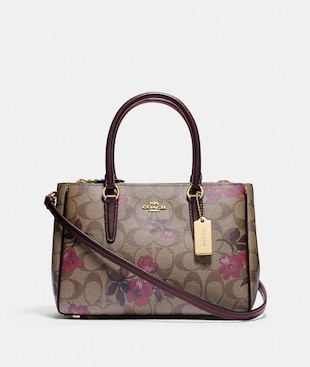 MINI SURREY CARRYALL IN SIGNATURE CANVAS WITH VICTORIAN FLORAL PRINT