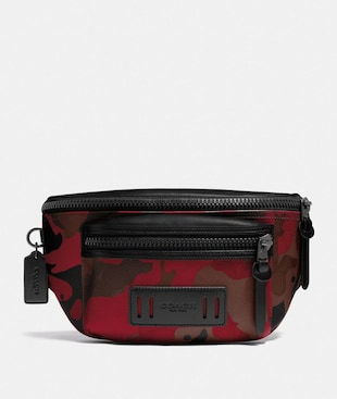 TERRAIN BELT BAG IN SIGNATURE CANVAS WITH CAMO PRINT