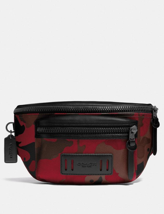 Coach Terrain Belt Bag in Signature Canvas With Camo Print Qb/Oxblood Multi Explore Men Explore Men Bags