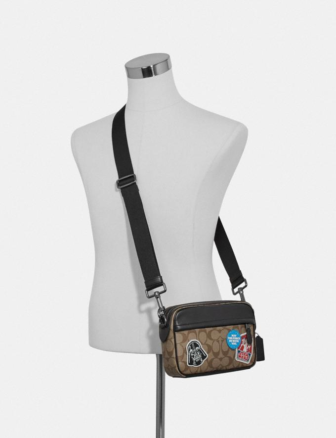 Coach Star Wars X Coach Graham Crossbody in Signature Canvas With Patches Qb/Tan Multi Explore Men Explore Men Bags Alternate View 2