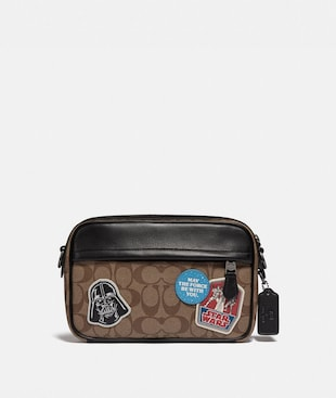 STAR WARS X COACH GRAHAM CROSSBODY IN SIGNATURE CANVAS WITH PATCHES