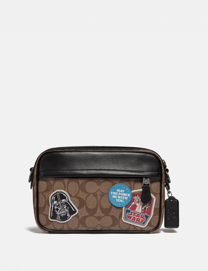 Coach Star Wars X Coach Graham Crossbody in Signature Canvas With Patches Qb/Tan Multi Explore Men Explore Men Bags